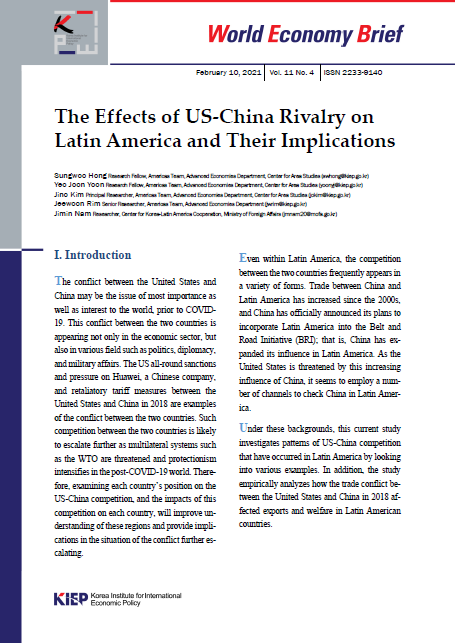 The Effects of US-China Rivalry on Latin America and Their Implications