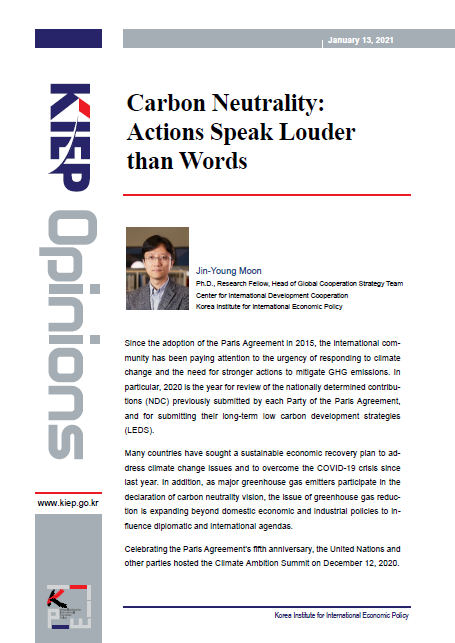 Carbon Neutrality: Actions Speak Louder than Words