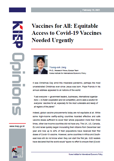 Vaccines for All: Equitable Access to Covid-19 Vaccines Needed Urgently